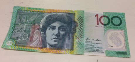 An example of one of the counterfeit $100 notes found by police in the local area recently. Photo Contributed