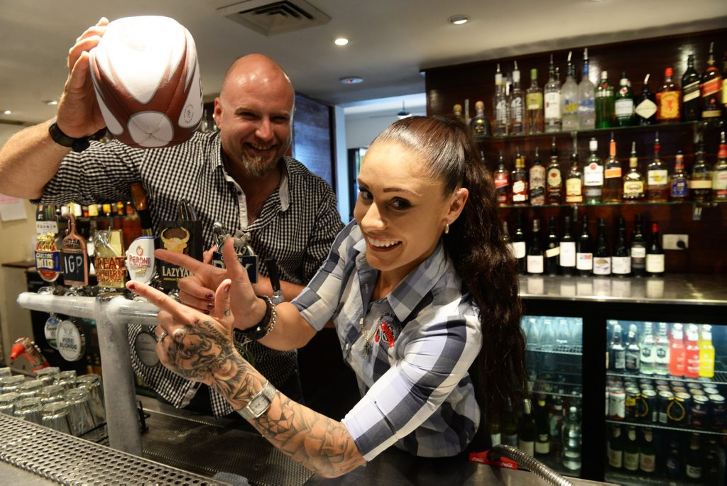BIG NIGHT: Club managers Phil Coles and Jess Hanna are excited about NRL Grand final festivities. Photo: Mike Knott / NewsMail