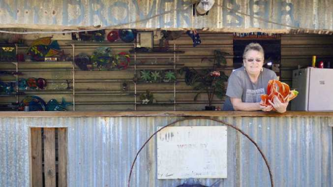 CREATIVE FREEDOM: Judith Bohm-Parr at her art studio in Isis.
