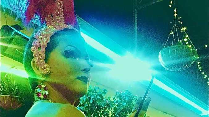 SHOWGIRL Gender illusionist Beau Dachs, aka Saphira von Wildewon the Coffs Harbour Drag Idol competition last week.