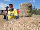 BALED UP: Wal and Michelle Verdel are asking for help to transport 150 bales of hay to drought stricken farmers in Longreach.  Photo: Max Fleet / NewsMail