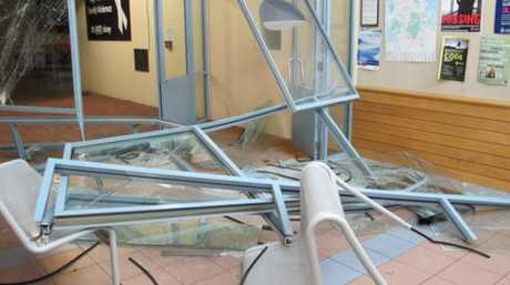 The damage left behind by the alleged drunk driver. Photo / Supplied