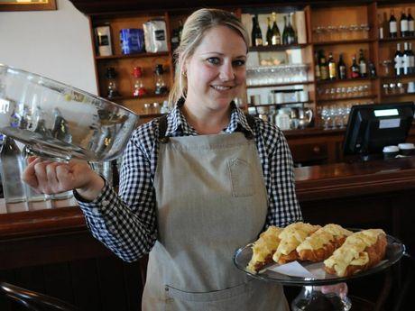 SOMETHING LIGHT: Restaurant manager Tereza Taylor bakes morning tea treats. Photo Charlotte Lam / The Chronicle