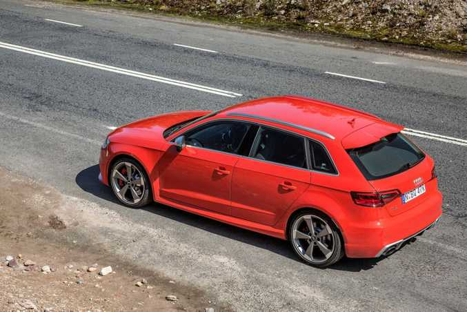 RED ROCKET: The 2015 Audi RS3 Sportback can nudge close to $90k if you start ticking those tempting options boxes.