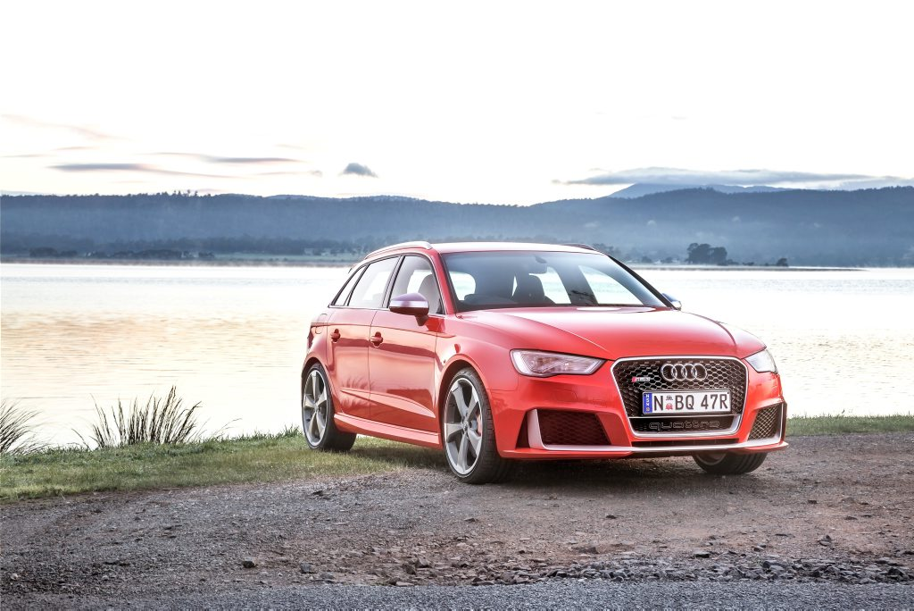 Audi has launched the most powerful compact hot hatch in Australia, the RS3 Sportback.