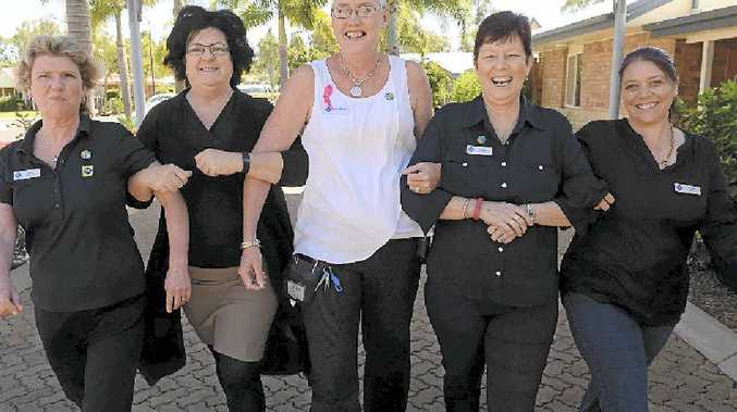 GET INVOLVED: Karen Gerrey, Adele Wilkinson, Michelle Bastable, Vicki McDonnell and Michelle Tindill will be taking part in this year's first-ever Bargara Walk for Women's Cancers. Photo: Mike Knott / NewsMail