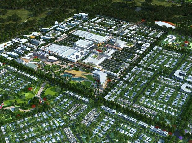 An aerial view of the Aura development at the site that was formerly known as Caloundra South