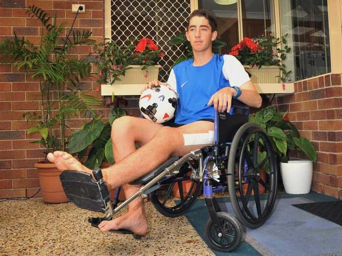 CLOSE CALL: Josh Keenan of Buderim is recuperating after surgery for compartment syndrome.