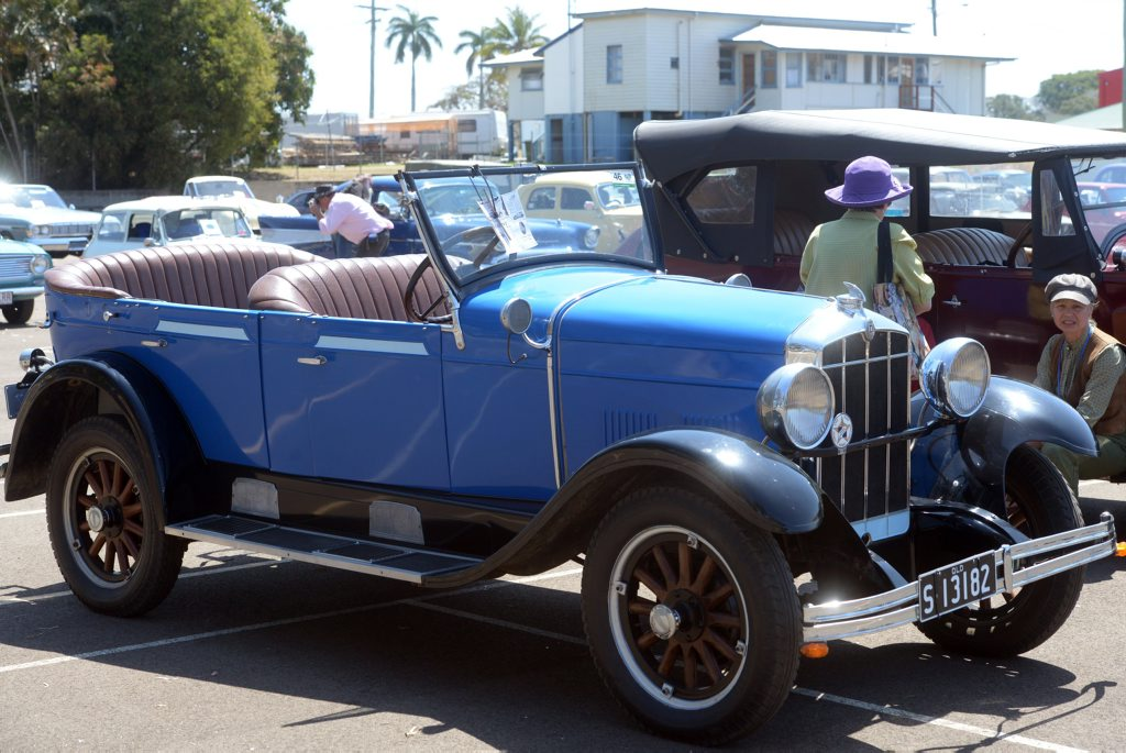 VINTAGE CARS: Something for everyone at the Bundaberg Vintage Vehicle Club Car Show held at Daph Gedes Park on Sunday, 4 October 2015. Photo: Max Fleet / NewsMail
