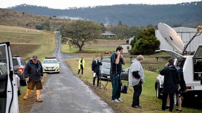 BREAKTHROUGH: The scene at Allens Rd, Upper Tent Hill near where the body of Gatton teenager Jayde Kendall was found after a tip-off.