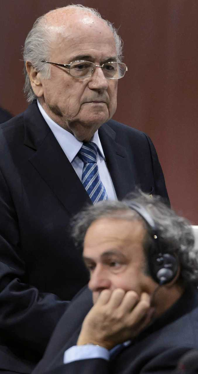 HARD TO SHIFT: FIFA president Sepp Blatter and UEFA president Michel Platini have both been under the spotlight.