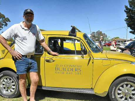 Jeff Walsh from Port Macquarie with his prized VW at the parade in Leslie Park.