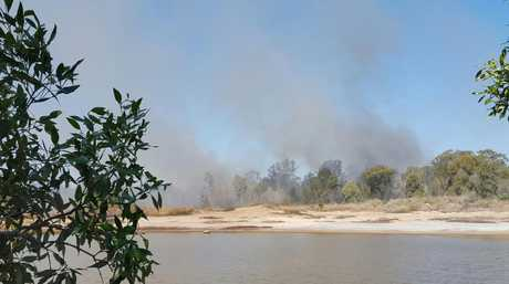 The blaze started about 1.30pm on Sunday near Tooth St and Ibis Blvd.
