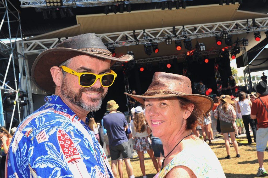 Caloundra Music Festival, Kings Beach, Caloundra. John and Annie Bingham came from Pomona to enjoy the music. Photo Greg Miller / Sunshine Coast Daily