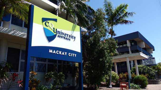 Construction work is ongoing at the CQUniversity Mackay City Campus.