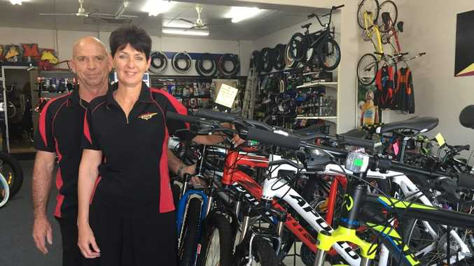 Paul and Tracey Mobbs have a g=huge range of sport equipment and accessories in store. Photo Ashley Clark / NewsMail