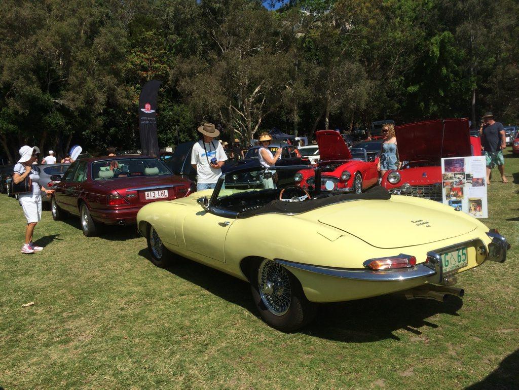 Image for sale: Primrose yellow Jaguar E-Type at the 2015 Noosa Beach Classic Car Show. Photo: Iain Curry / Sunshine Coast Daily
