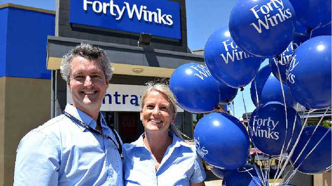 NOW OPEN: Owners Adam and Rachel Healey at the Forty Winks in Johanna Blvd.