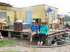 WE WERE THERE: The Morning Bulletin caught up with Karen Johnson and her partner Rob in Marmor after their 150-year-old home was torn apart during Cyclone Marcia.