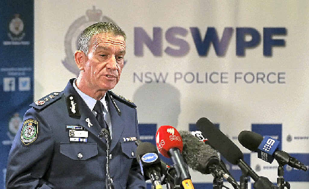 PROTECTION: NSW Police Commissioner Andrew Scipione.