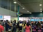 Fans waiting for the Cowboys at Townsville Airport