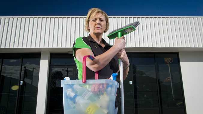 Cleaner Lisa McDade is angry that she won't see any of the $17,000 owed to her by the previous owners of LBS Accounting. Photo Paul Braven / The Observer