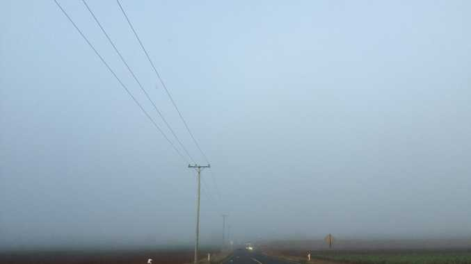 Bundaberg recorded its thickest fog in over a year this morning. Photo Contributed