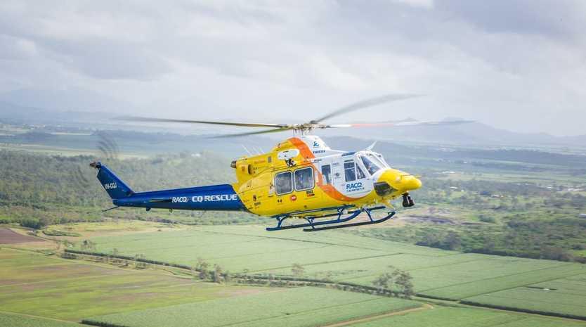 RACQ CQ Rescue flies to the rescue of a Dunedin tourist on Hayman Island