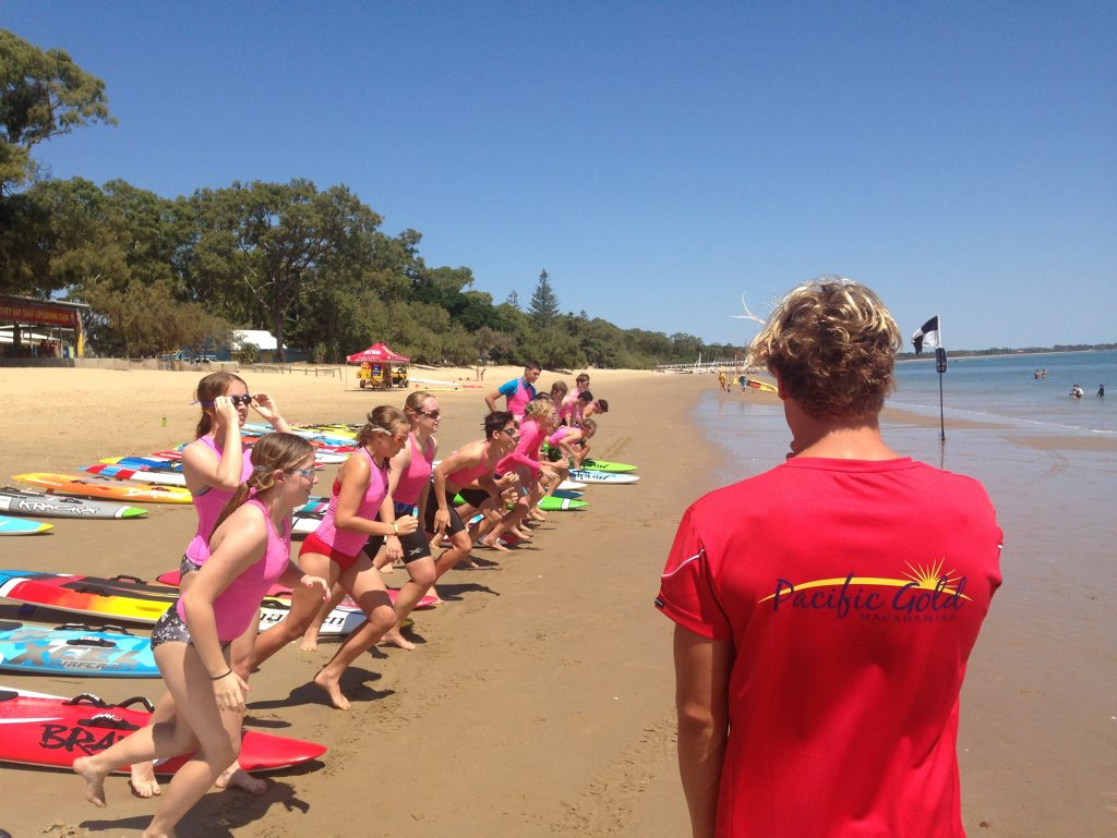 SURF'S UP: Matt Bevilacqua starting a surf swim race at the weekend. Photo Contributed