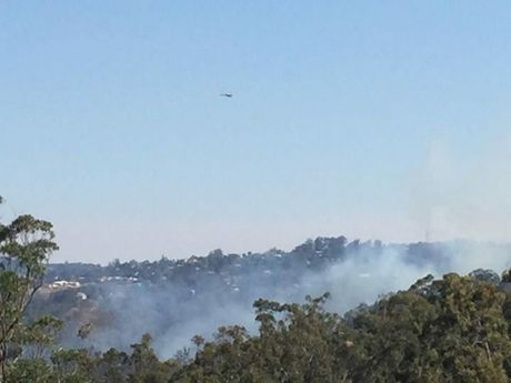 Photo of the fires taken from the back of Highfields State School.
