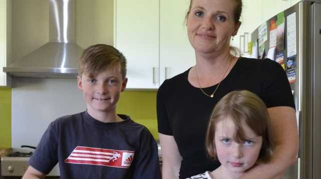 Condamine local and administrator of Better Internet for Rural, Regional and Remote Australia, Kristen Stahlhut-Coggan with her children, Cameron and Katelyn.
