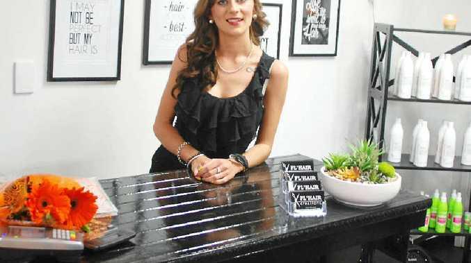 A CUT ABOVE: Samantha Ogg has opened her own salon, Fl'hair Creations.