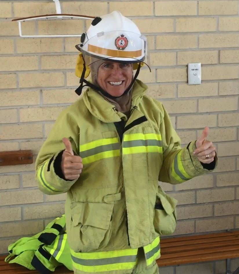 Hervey Bay fire station member Jodie Lynch.