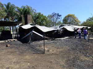 House fire at Minden