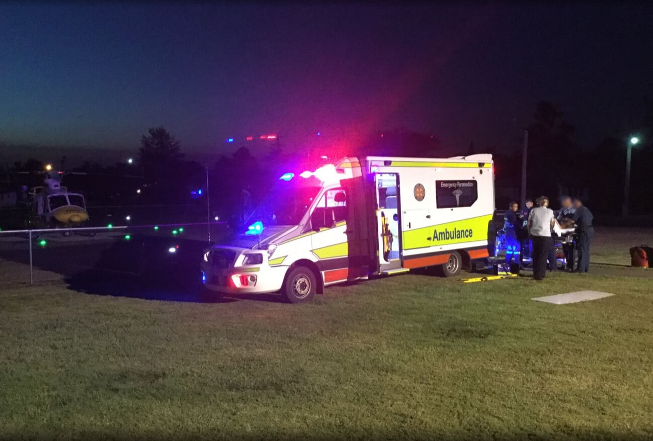 RACQ CareFlight airlifted a Laidley woman to the Princess Alexandra Hospital late yesterday afternoon.