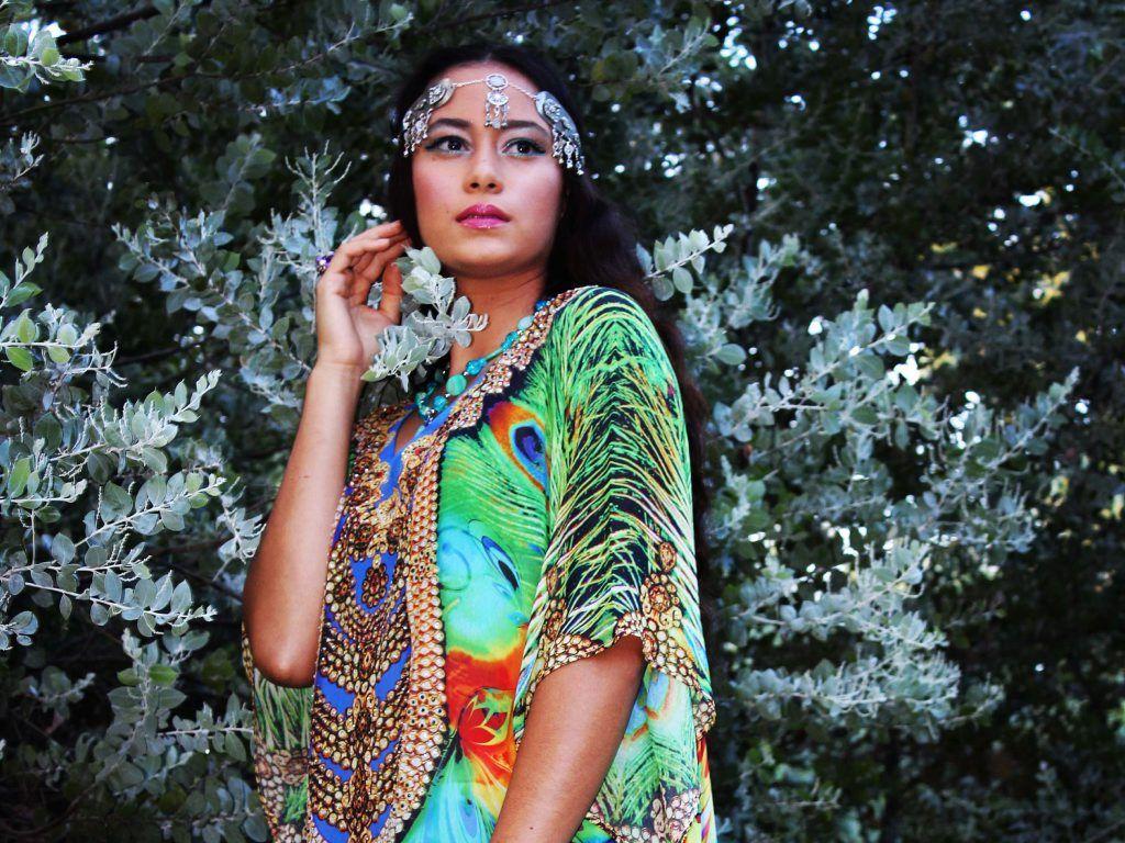 CREATIVE: Karen Chandwani's colourful kaftans will be on show at the Sunshine Coast Fashion Festival.