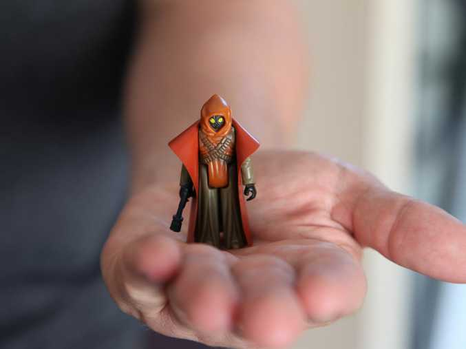 TINY TREASURE: Paul Vandemeer's rare and valuable vinyl cape Jawa figure.