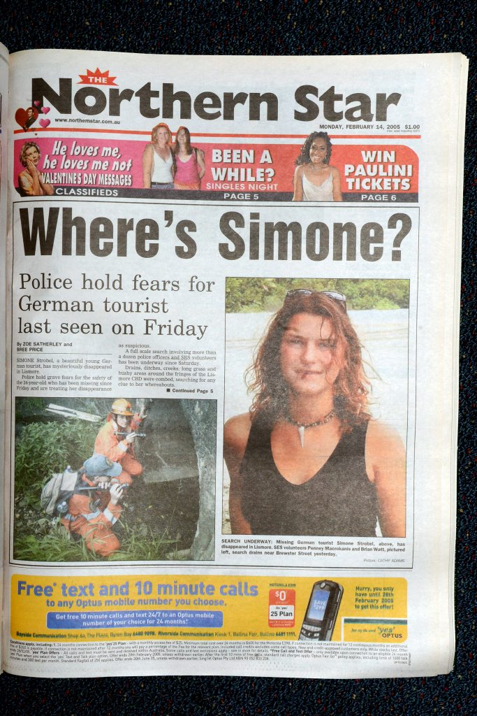 Simone Strobel. February 14th, 2005. Photo The Northern Star Archives