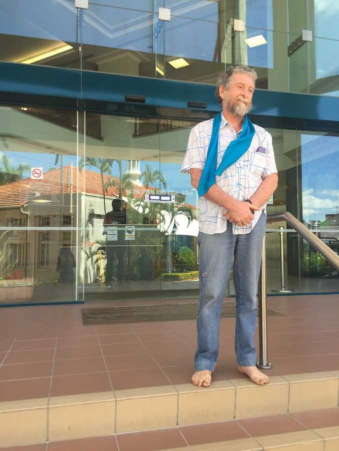 James Dowling outside Rockhampton Magistrate's Court yesterday.