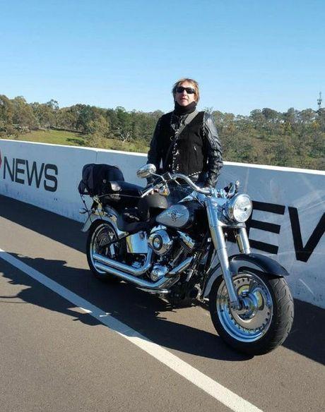 Shane Brunner on his bike ride before the crash