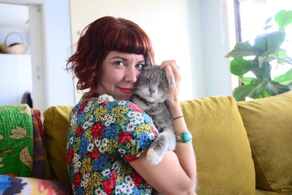 Monique Purton from Monique Lola Vintage has created cat calenders to raise money for Capricorn Animal Aid Photo Trinette Stevens / Morning Bulletin