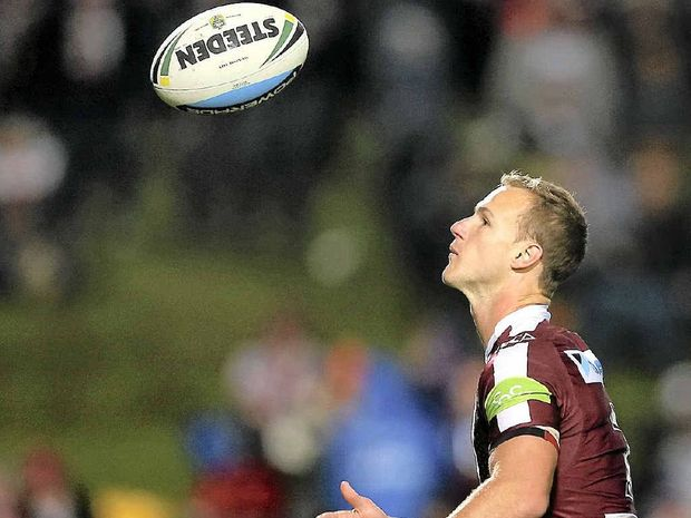 MIXED FORTUNES: (Clockwise from left) Blake Austin, of the Canberra Raiders, Matt Moylan, of the Penrith Panthers; Daly Cherry- Evans, of the Manly Sea Eagles, and Chris Sandow, of the Parramatta Eels.