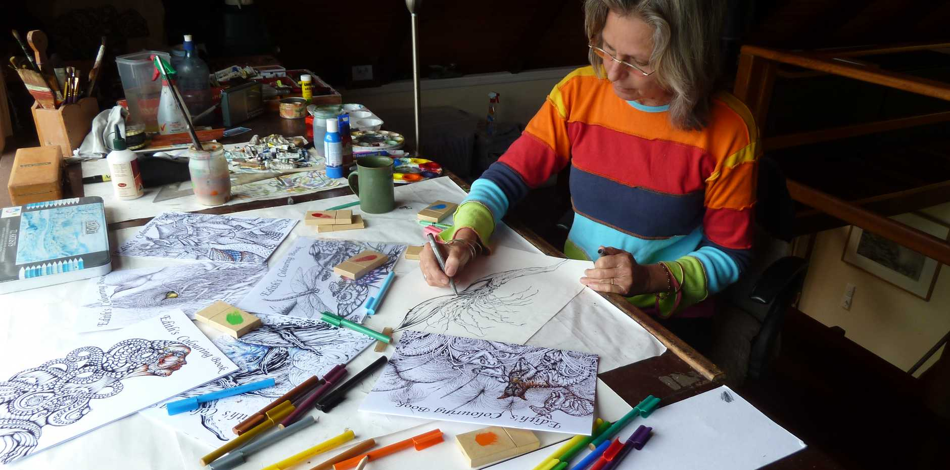 Colouring-in has become a popular way for adults to relax and de-stress.