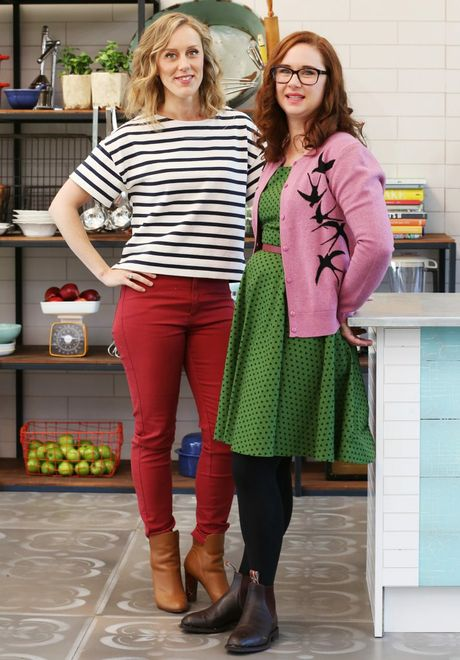 The Great Australian Bake Off hosts Claire Hooper and Mel Buttle.