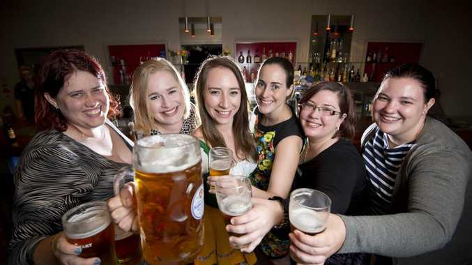 Tiana Dahl, Shani Mattinson, Jenny Ross, Alexandra Heron, Michelle Spann, Cassie Hinde. - Oktoberfest is just around the corner and the Rotaract team are gearing up for the celebration. Photo Paul Braven / The Observer