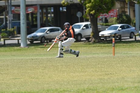 Farmer Charlie batsman Ashley Simes during the game against Norths at REC 9 in the Rous Hotel 16.8 cricket tournament. Photo Marc Stapelberg / The Northern Star