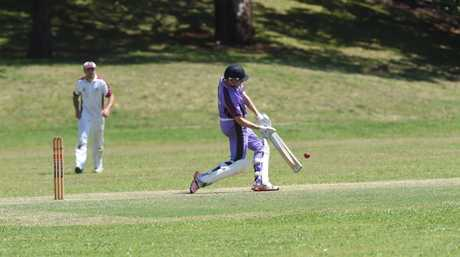 Pottsville batsman John Ainsworth during the game against Norths at REC 9 in the Rous Hotel 16.8 cricket tournament. Photo Marc Stapelberg / The Northern Star