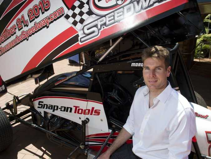 Will Power at Downlands College for announcement about feature race named in his honour at Toowoomba speedway, Tuesday, October 6, 2015. Photo Kevin Farmer / The Chronicle