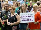 Ipswich City Council held a rally against domestic violence on Friday morning. Photo: Rob Williams / The Queensland Times