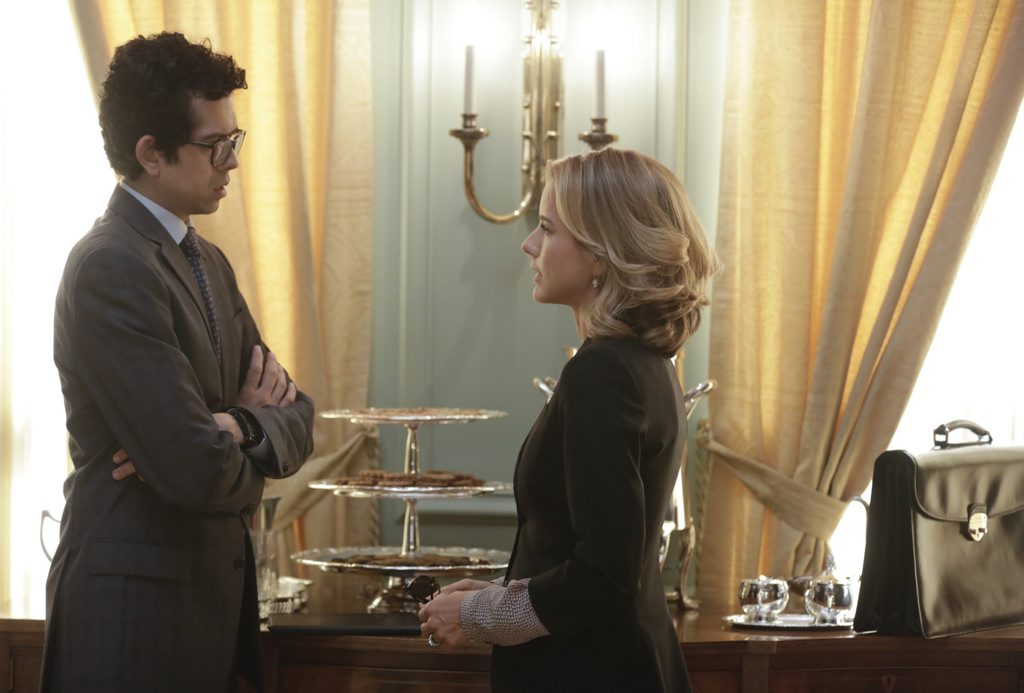 Geoffrey Arend and Tea Leoni in a scene from Madam Secretary.